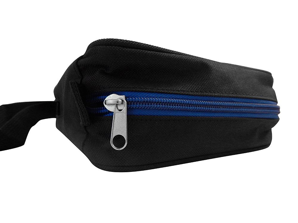 Schwarze Diabetikertasche mit Thermometer - Reißverschluss