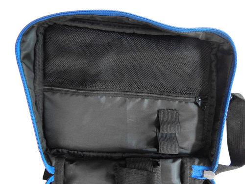 Schwarze Diabetikertasche mit Thermometer - Innentasche für Nadeln